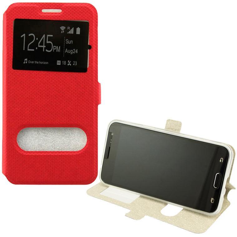 Чохол-книжка Modern 2 вікна Huawei Mate 20 Lite червоний