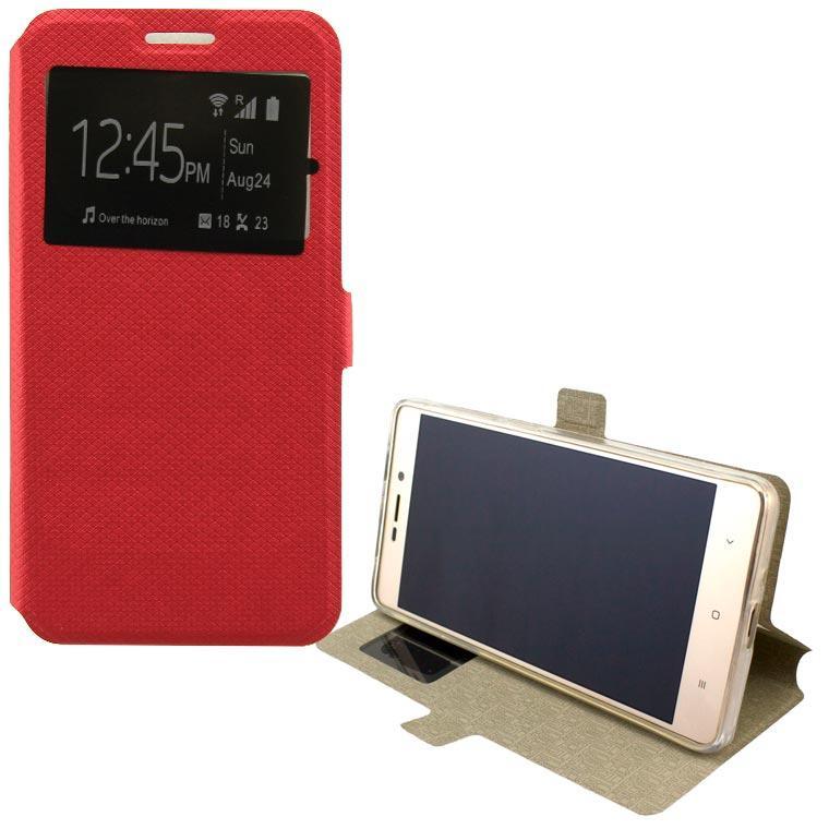 Чохол-книжка Modern 1 вікно Lenovo Vibe K6 Note червоний