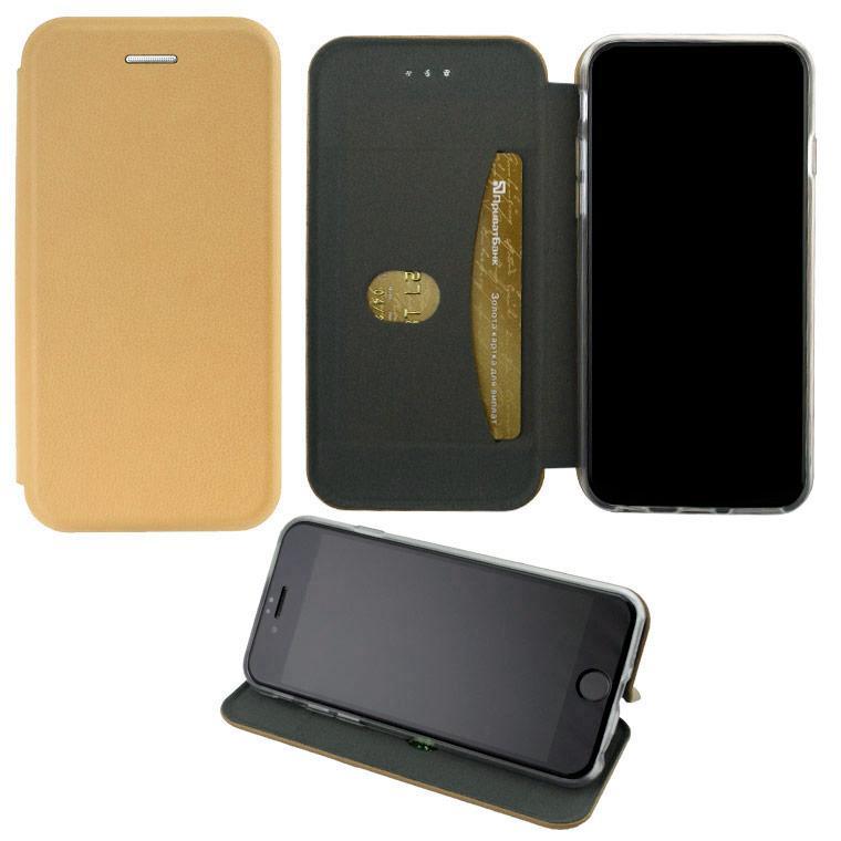 Чехол-книжка Elite Case Samsung J7 2015 J700, J7 Neo J701 золотистый