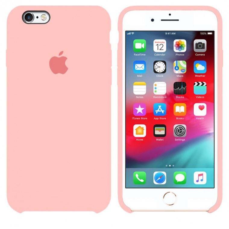 Чехол Silicone Case Original iPhone 6 Plus, 6S Plus №12 (Pink) (N12)