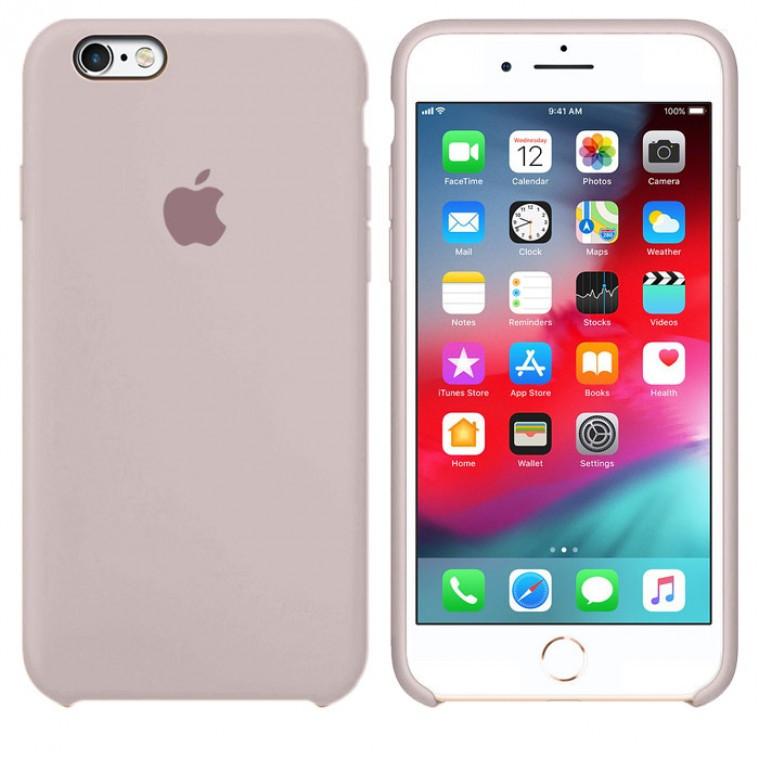 Чехол Silicone Case Original iPhone 6, 6S № 7 (Lavender) (N07)
