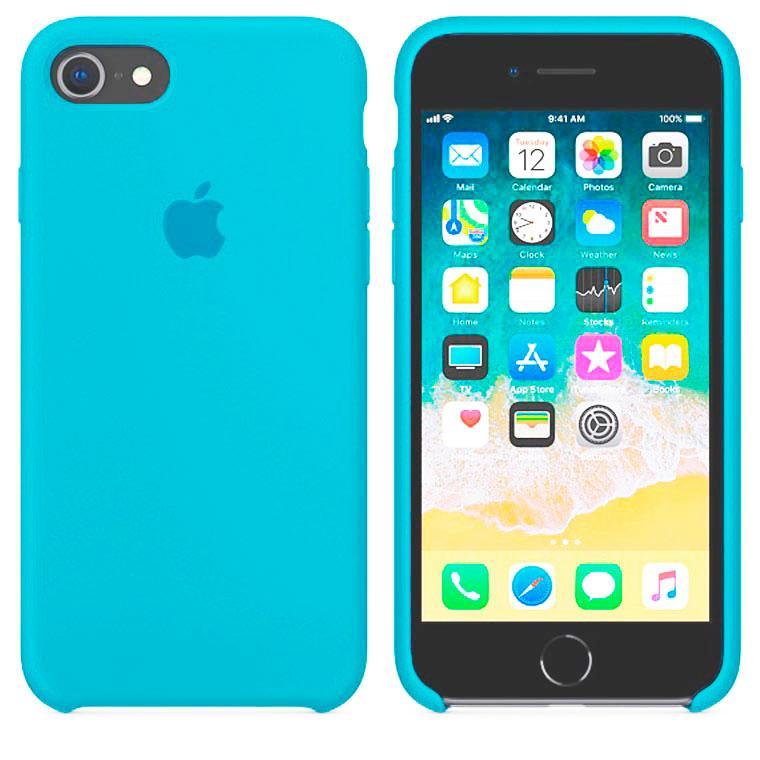 Чехол Silicone Case Original iPhone 6, 6S №16 (blue) (N16)