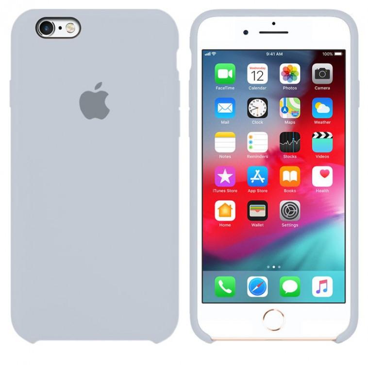 Чехол Silicone Case Original iPhone 6, 6S №26 (Blue gray) (N26)
