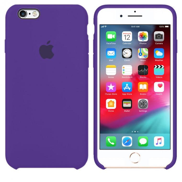 Чехол Silicone Case Original iPhone 6, 6S №30 (Dark purple) (N34)