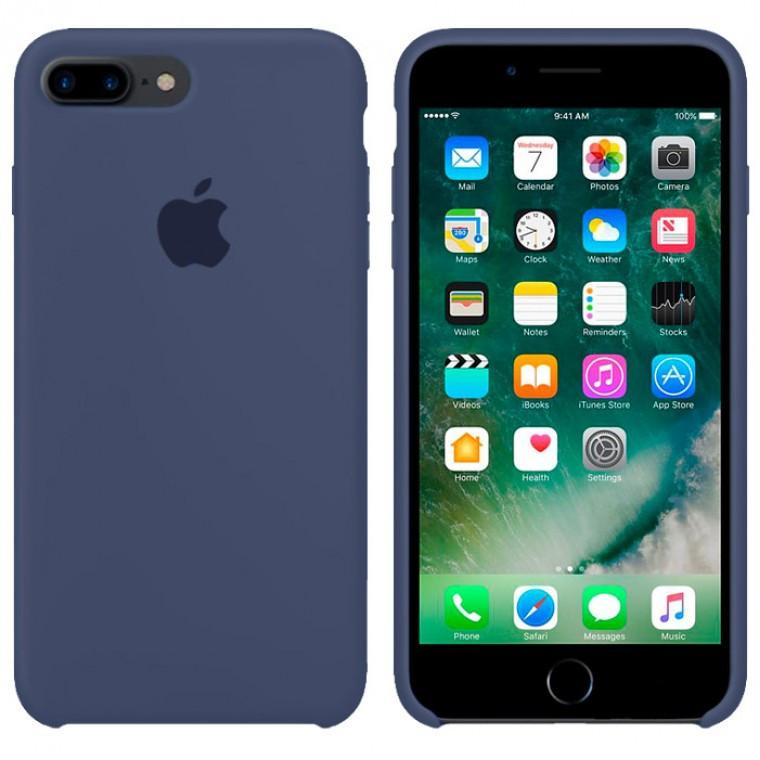 Чехол Silicone Case Original iPhone 7 Plus, 8 Plus № 8 (Midnight blue) (N08)