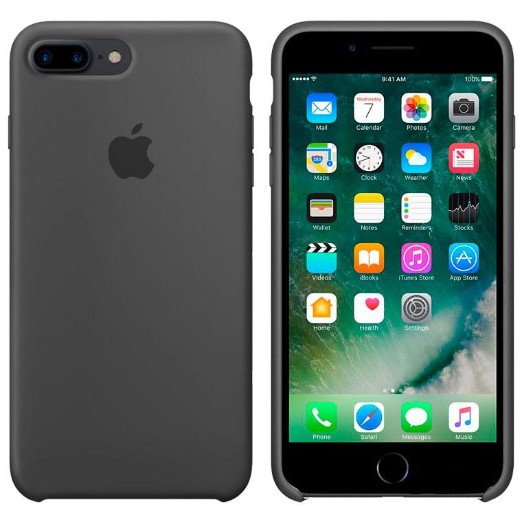 Чохол Silicone Case iPhone Original 7 Plus, 8 Plus №15 (Charcoal black) (N15)