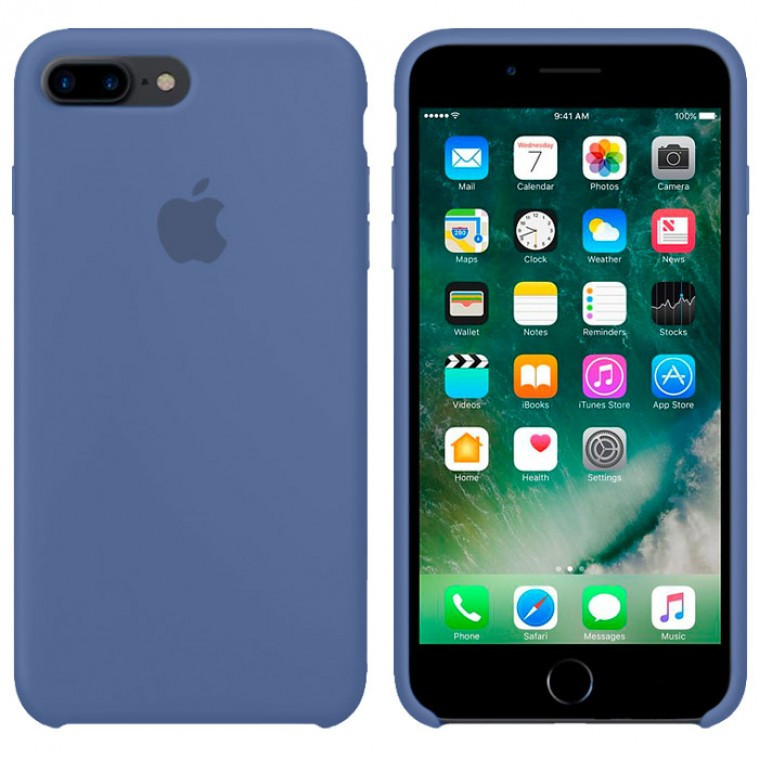 Чехол Silicone Case Original iPhone 7 Plus, 8 Plus №58 (Ice Cyan) (N20)