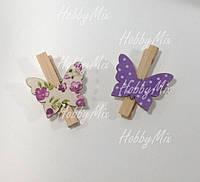 Бабочки на прищепке деревянные  2 шт., фото 1