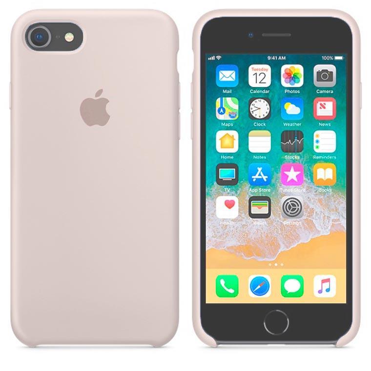 Чехол Silicone Case Original iPhone 7, 8, SE 2020 №10 (Rock ash) (N11)