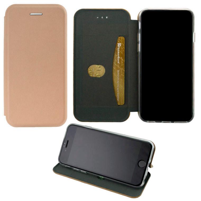 Чохол-книжка Elite Case Samsung J4 Plus 2018 J415 рожево-золотистий