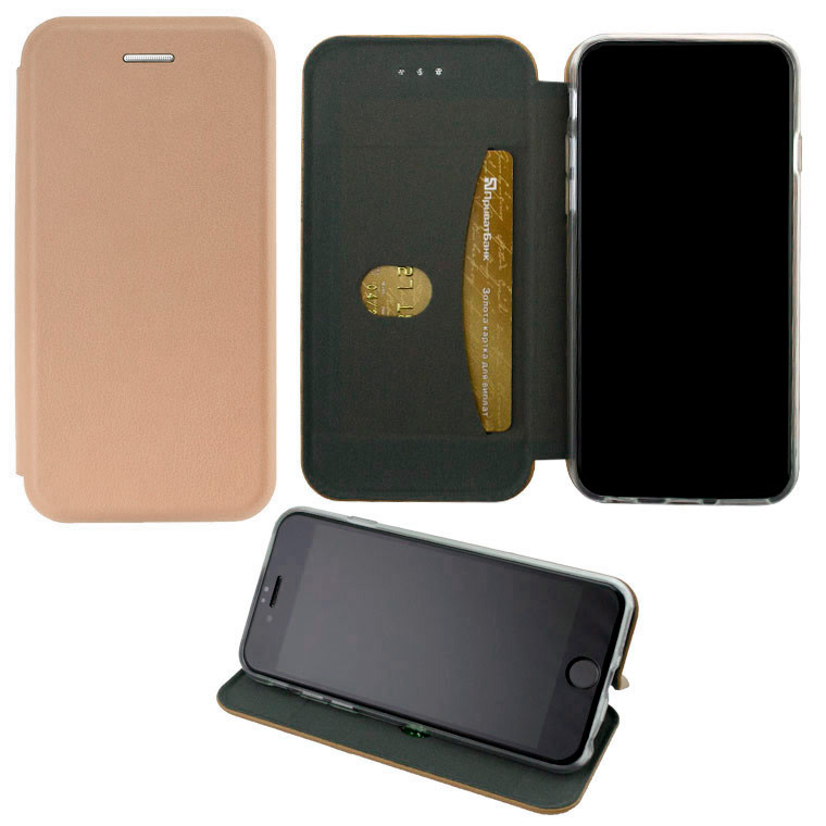 Чехол-книжка Elite Case Samsung J7 2015 J700, J7 Neo J701 розово-золотистый