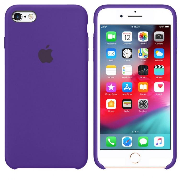 Чехол Silicone Case Original iPhone 7, 8, SE 2020 №30 (Dark purple) (N34)