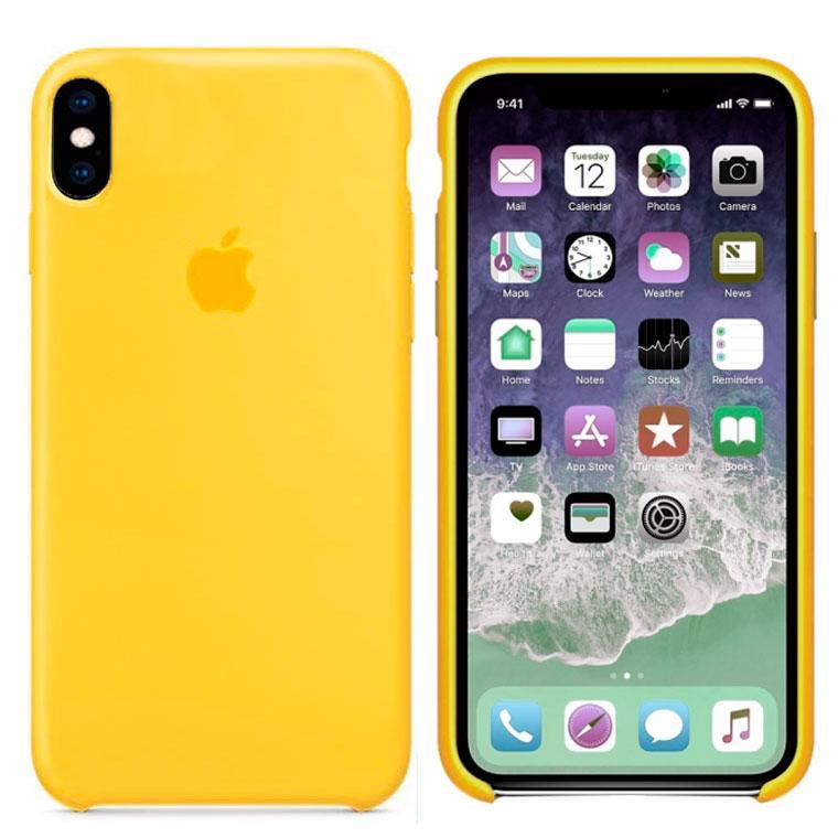 Чохол Silicone Case iPhone Original X, XS № 4 (Yellow) (N04)