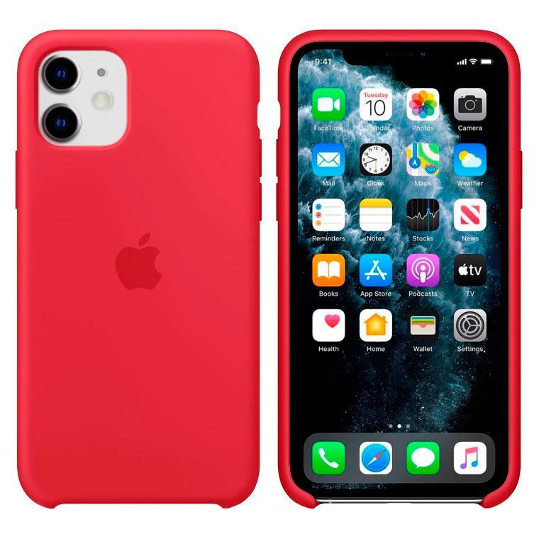 Чохол Silicone Case iPhone Original 11 №25 (Camellia Red) (N25)