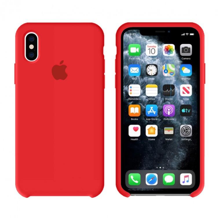 Чехол Silicone Case Original iPhone X, XS №14 (Red) (N14)