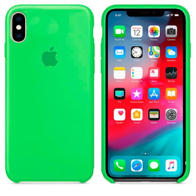 Чехол Silicone Case Original iPhone X, XS №31 (Dark green) (N32)
