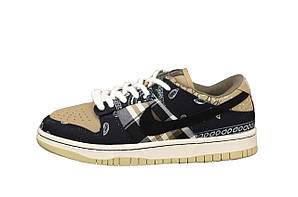 Чоловічі кросівки Nike SB Dunk Low Travis Scott (різнокольорові) К12532 модні круті кроси