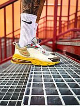 Чоловічі кросівки Nike travis scott X air max 270 react eng (різнокольорові) К7726 модні молодіжні кроси