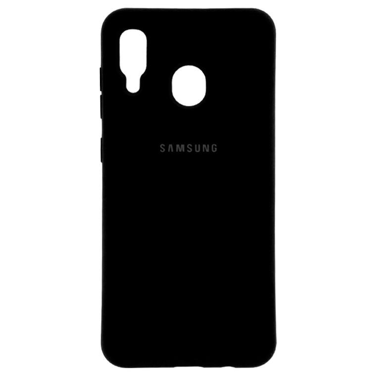 Чехол Silicone Case Full Samsung A20 2019 A205, A30 2019 A305 черный