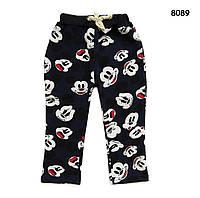 Теплые штаны Mickey Mouse унисекс. 130, 140 см, фото 1