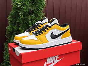 Чоловічі кросівки Nike Air Jordan Low (чорно-жовті) В10723 повсякденні кроси