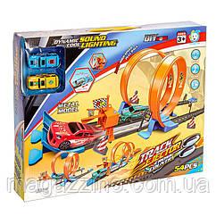 """Дитячий ігровий інерційний гоночний трек з машинками, на 2 кільця """"Track Ejector"""""""