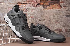 Чоловічі кросівки Nike Air Jordan 4 (сірі) В10724 якісні високі круті кроси