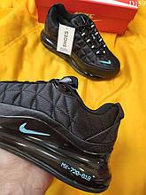 Чоловічі кросівки Nike Air Max AM720-818 (чорно/бірюзові) D159 повсякденна стильне взуття