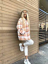 Тепла жіноча сорочка в клітку 409260 (КВІ), фото 2