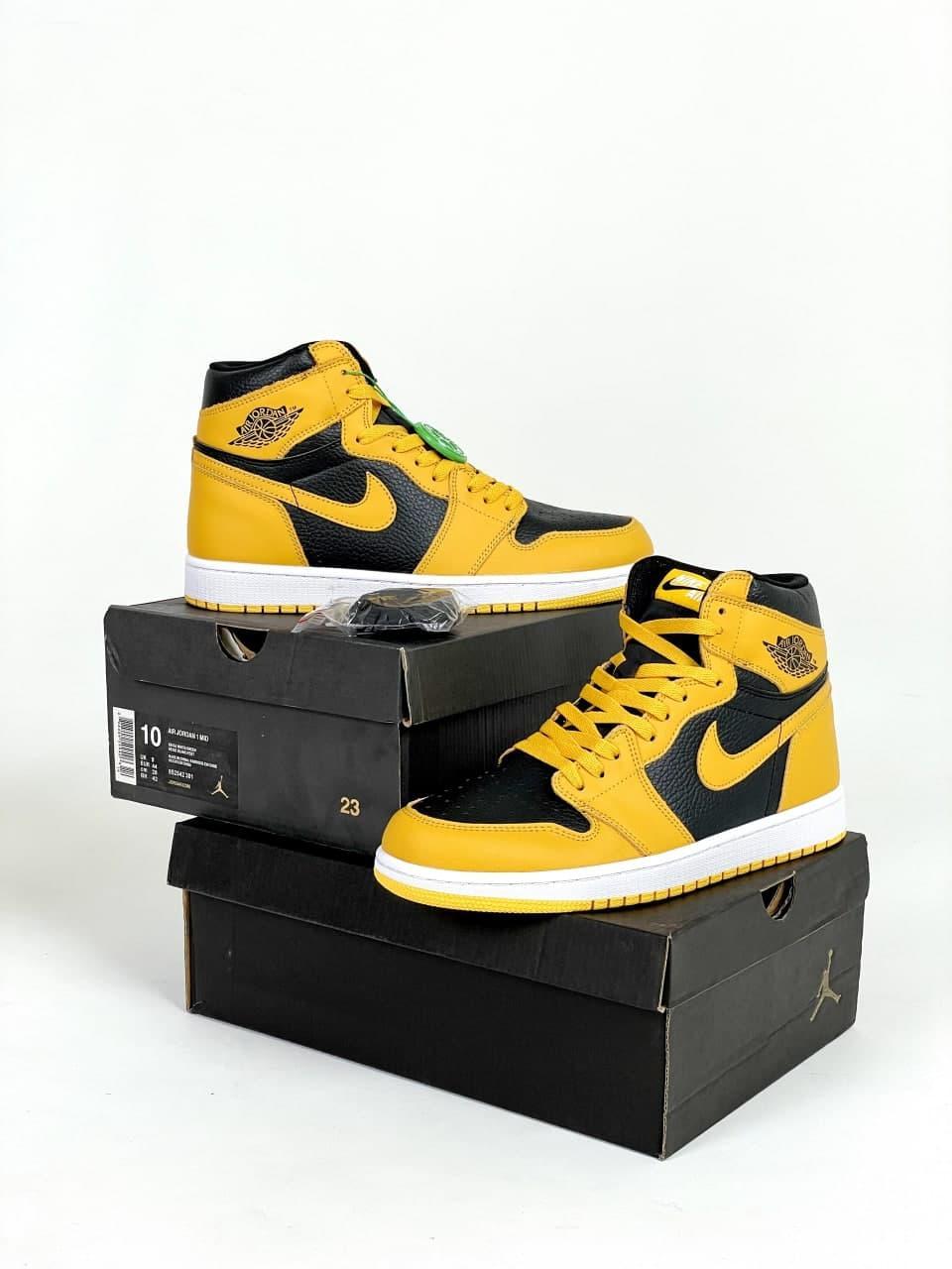 Жіночі кросівки Nike Air Jordan (жовті) стильна взуття J3350