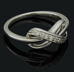 Золоте кільце з діамантами С42Л1№10