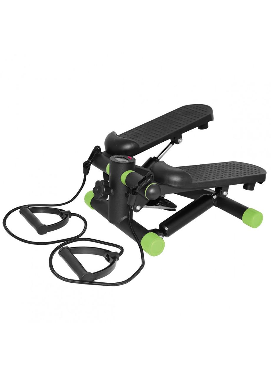 Степпер (мини-степпер) с эспандерами SportVida SV-HK0357 Black/Green