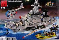 Конструктор brick Военный карабль, 843 детали, фото 1