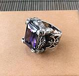 Серебряный перстень кольцо с камнем, фото 2