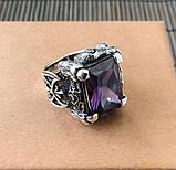 Серебряный перстень кольцо с камнем, фото 3