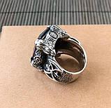 Серебряный перстень кольцо с камнем, фото 5