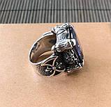 Серебряный перстень кольцо с камнем, фото 6