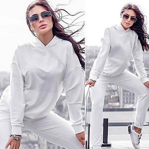 Білий спортивний костюм (Код MF-501) S