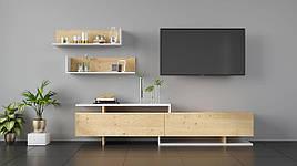 Мебель для гостиной Орландо 2 дуб артизан/белый/дуб артизан, Світ меблів
