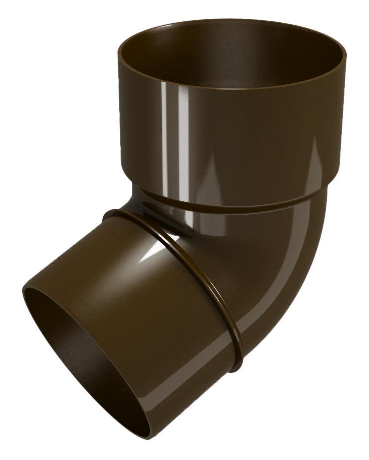 Колено трубы 67.5°. Водосточная система ПВХ REGENAU 125 коричневая, белая, графит