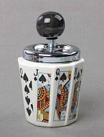 Подарок для мужчины — Пепельница Карты Пики, пепельница колода карт