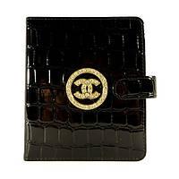 Женская кожаная визитница Chanel черная, 48 файлов