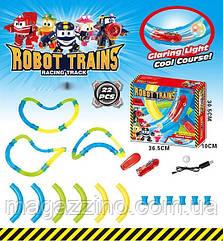 """Дитячий гоночний трек в трубі """"Speed pipes Robot trains"""", з машинкою на пульті управління. Світиться в темряві."""