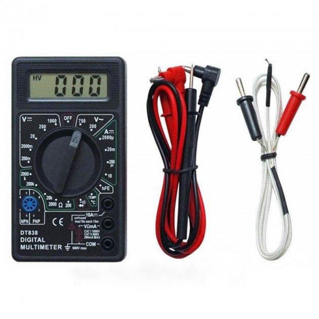 Цифровий мультиметр DT- 838 з термопарою і кроною мультиметр з кроною