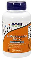 L-метіонін Now Foods - L-Methionine 500 мг (100 капсул)