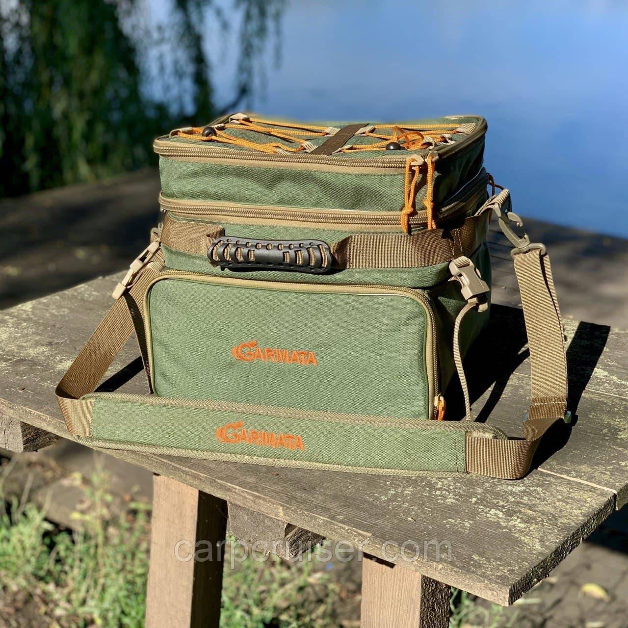 Рибальська сумка GARMATA Total Fish з коробками. Сумка спінінгіста з ящиками. Тканина Cordura.
