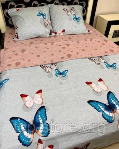 Готовое полуторное постельное белье Бязь Gold Размер 150*215