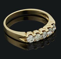 Кільце з жовтого золота з діамантами С47Л1№16