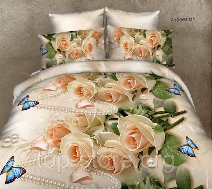 Готовый комплект постельного белья Бязь Gold Размер 150*215 полуторный