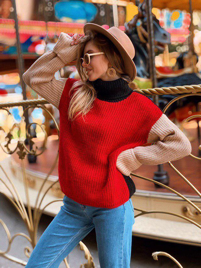 """Стильный женский модный свитер разноцветный """"Луиза""""  Модные трехцветные свитера женские"""